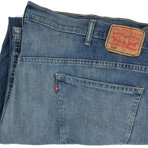 Levi's 559 Relaxed Fit Straight Denim Jeans 48x30